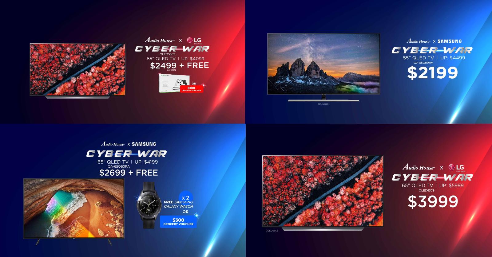 Audio House TV Cyber War: Samsung vs LG, QLED vs OLED