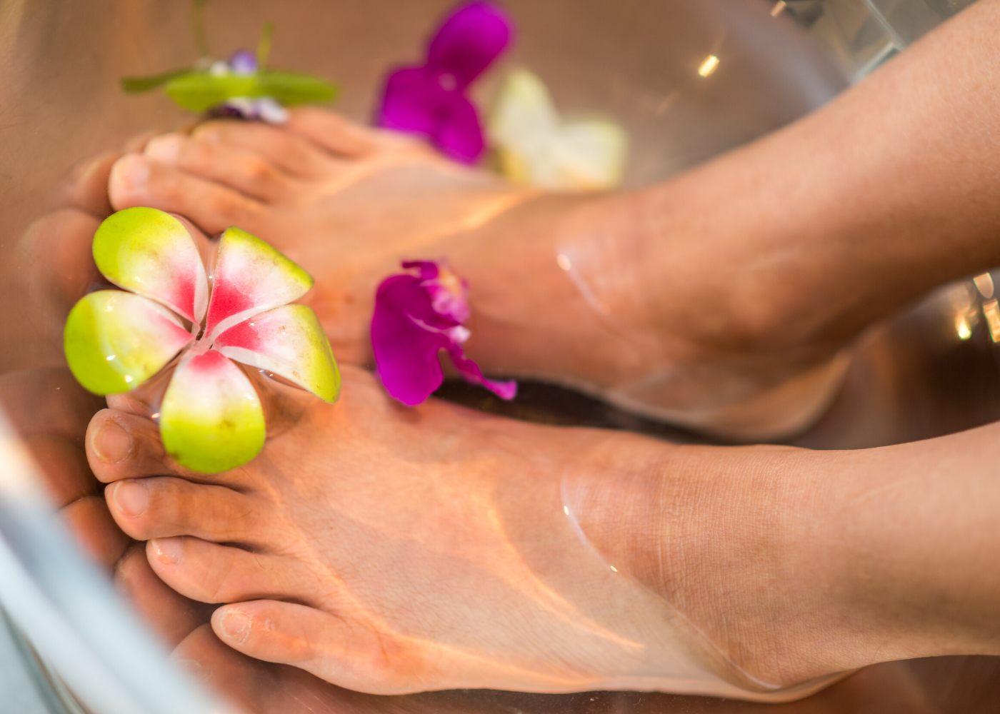 Soften dry skin and calluses with a foot soak