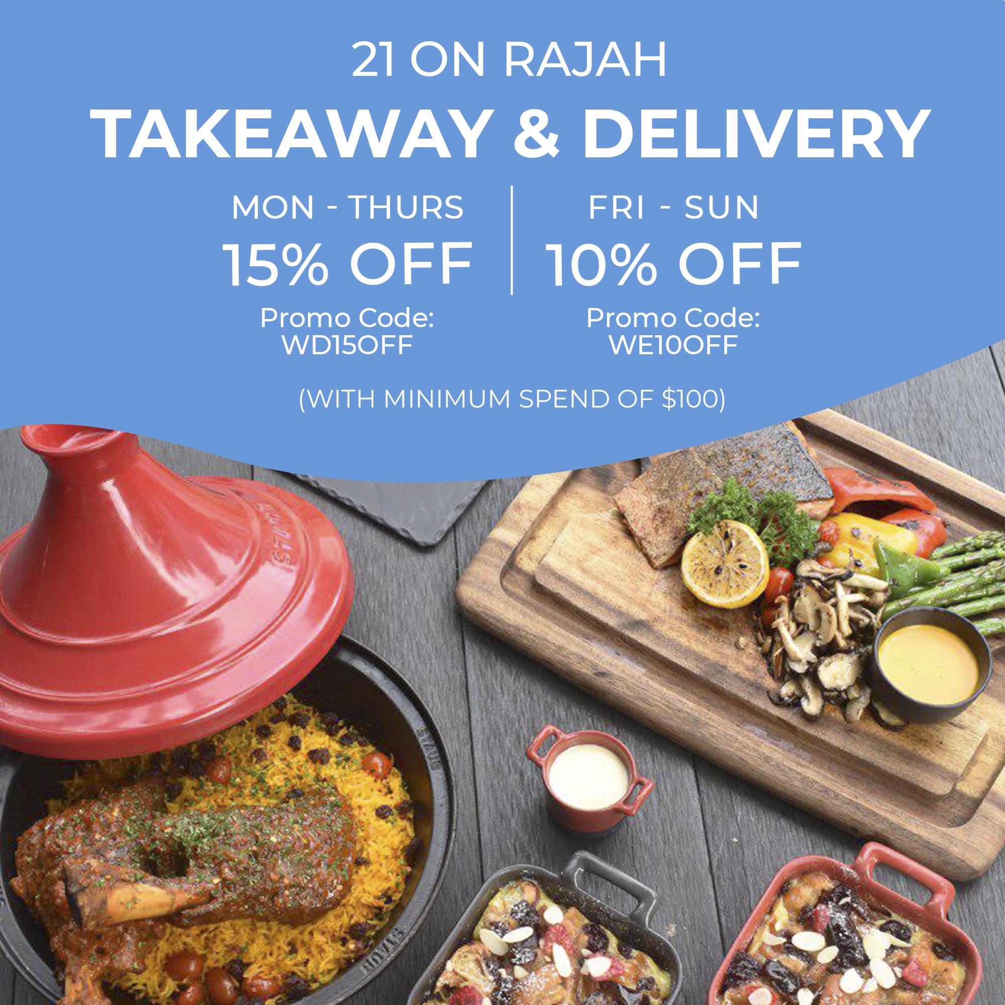 21 on Rajah: Islandwide delivery