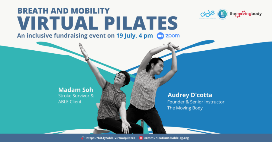 Virtual Pilates – An inclusive fundraising event