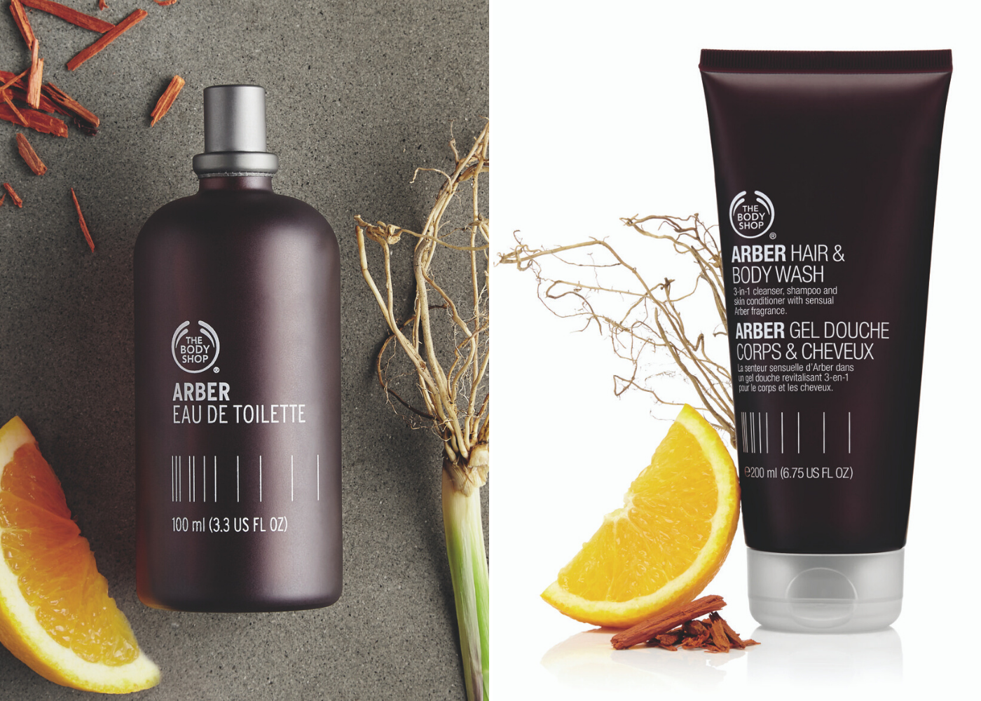 The-Body-Shop-Arber-Hair-and-Body-Wash-and-Eau-de-Toilette-father's day gifts