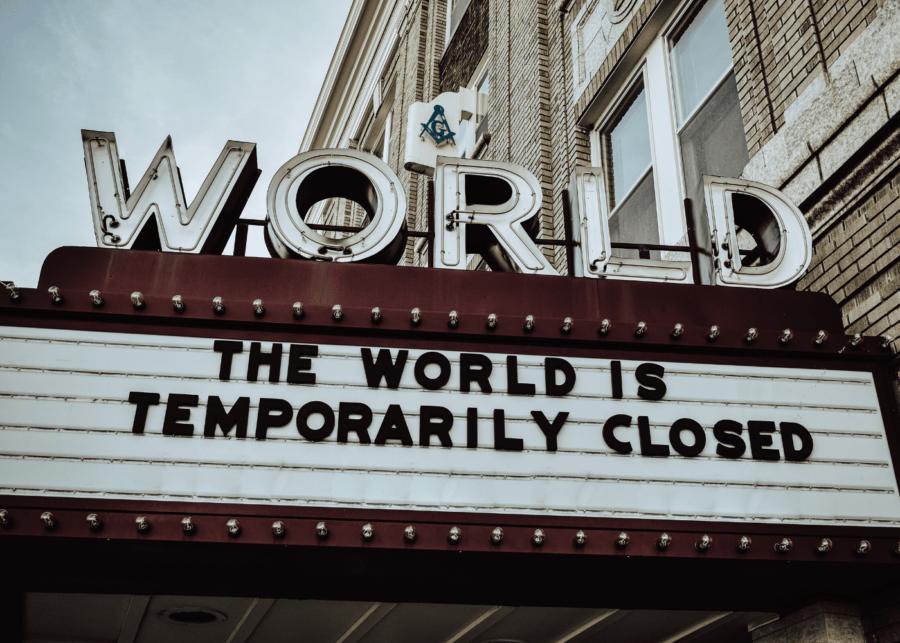 the world is closed sign | coronavirus pandemic