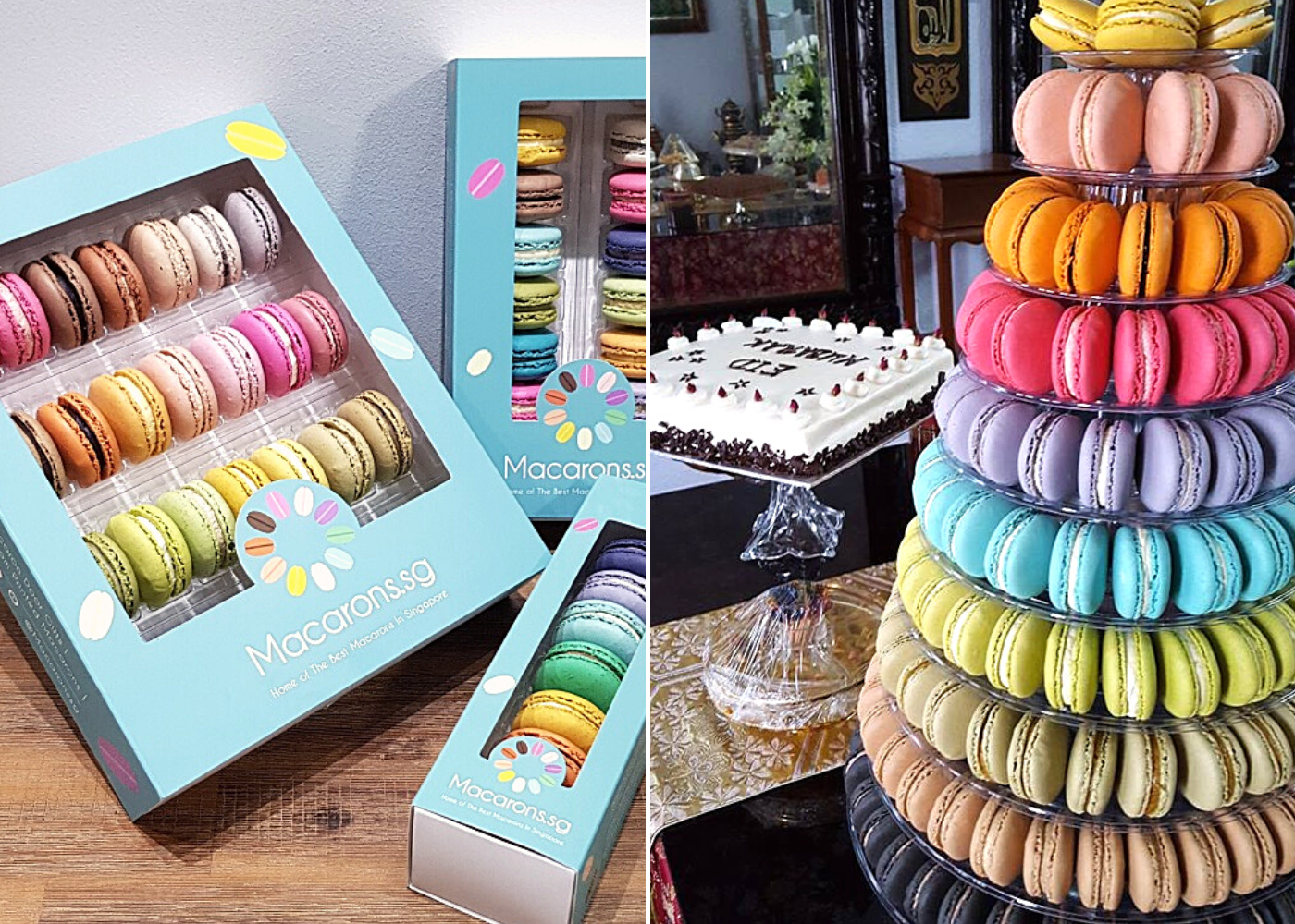 No need to hunt for macaron recipes when you can get the best macarons in Singapore delivered to you: Macarons.sg