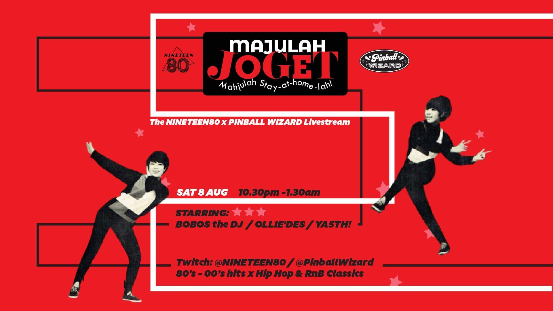 Majulah Joget! NINETEEN80 x Pinball Wizard Crossover National Day Digital Bash