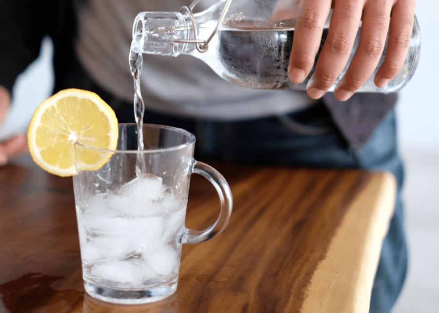 Running for beginners: water in cup