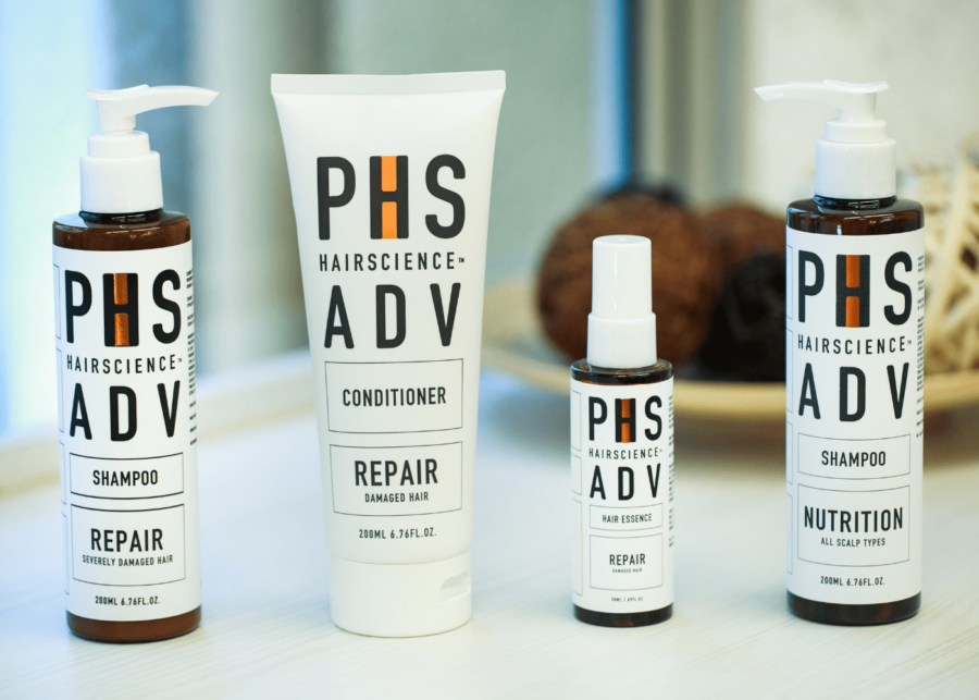 Treat coloured hair with PHS Hairscience ADV Colour Care Daily Regime