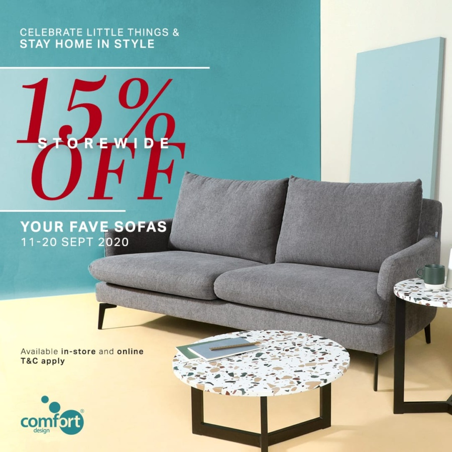 15% Storewide Sofa Sale at Comfort Furniture
