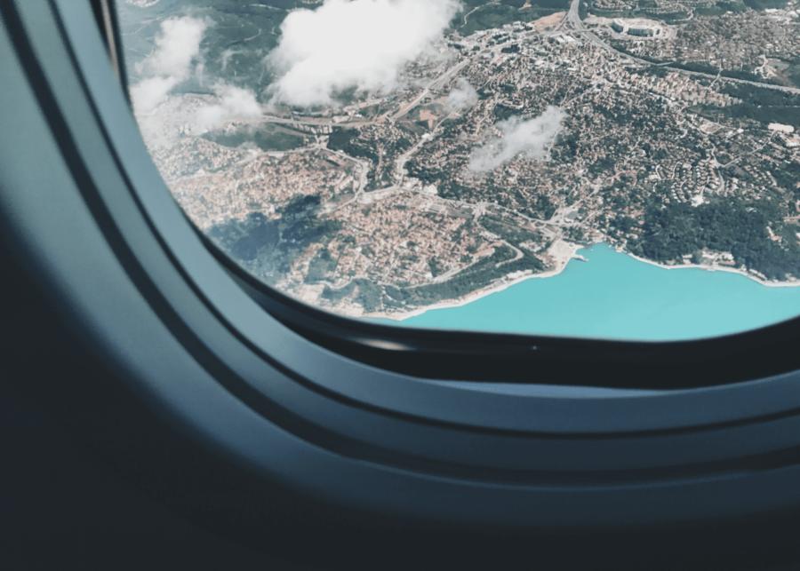 airplane window view   flights to nowhere