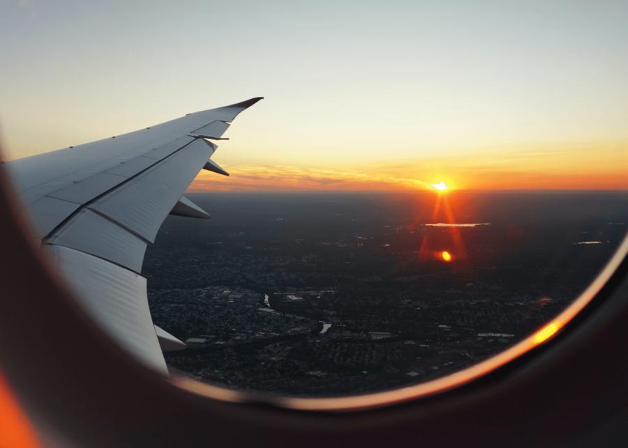 plane sunset   flights to nowhere