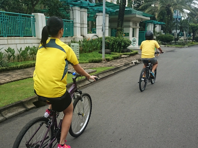 cycling on the street jakarta