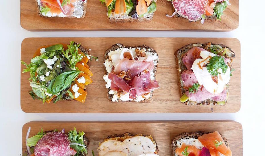Beau's delicious smorrebord line-up almost looks too good to eat. Image Credit: Beau