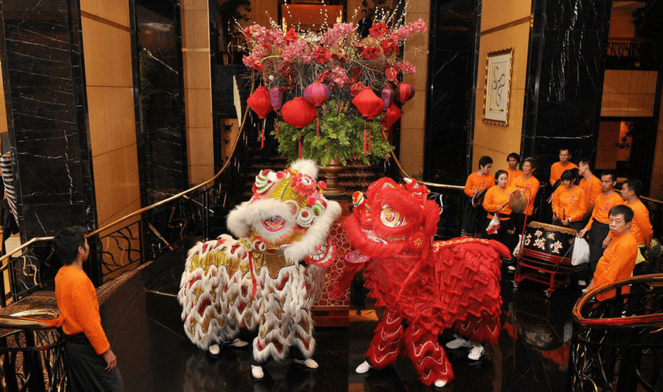hotel mulia chinese new year barongsai