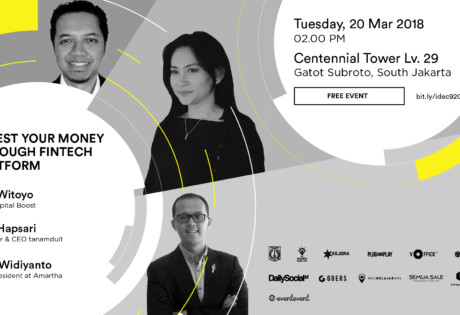invest money through fintech platform indonesia entrepreneur center seminar march 2018 jakarta