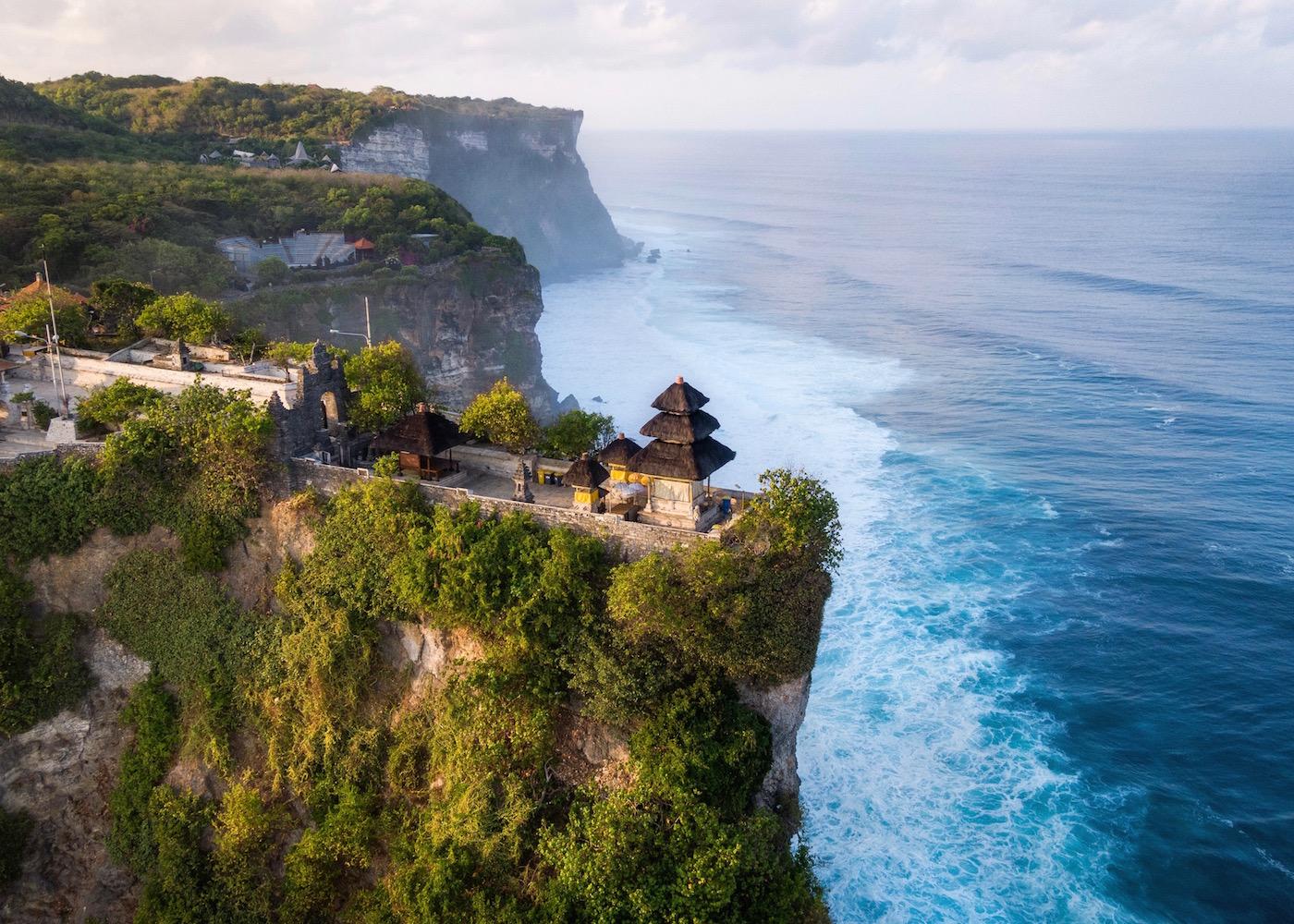 Pura Luhur Uluwatu - a clifftop temple in Bali, Indonesia