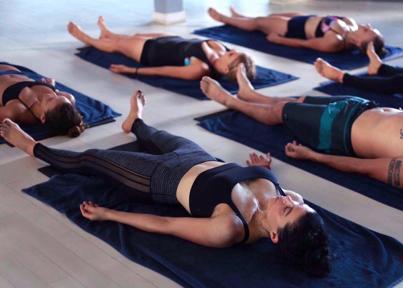 Yogis at Jiwa Yoga studio in Seminyak, Bali, Indonesia
