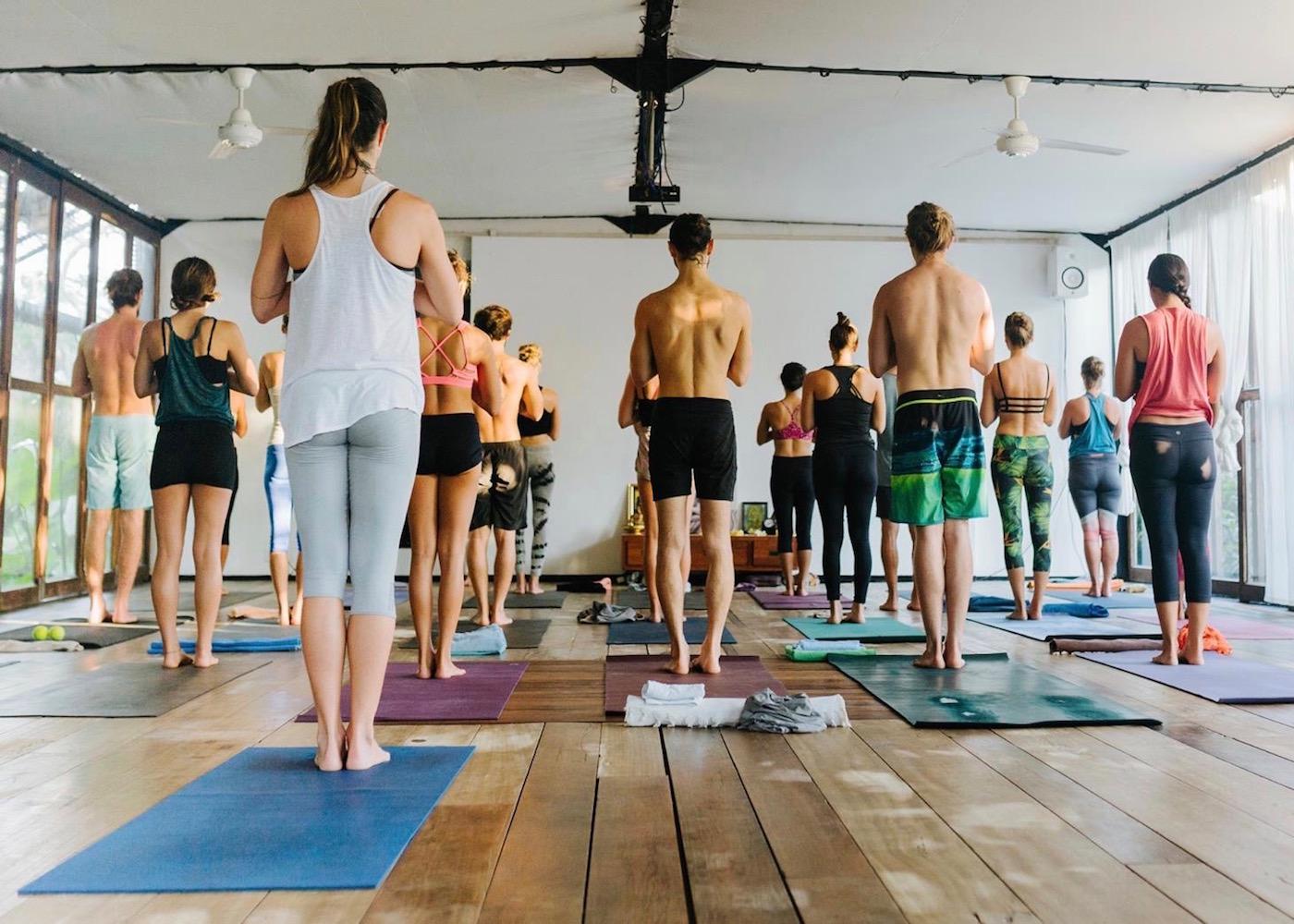 Yogis at Samadi yoga studio in Canggu, Bali, Indonesia