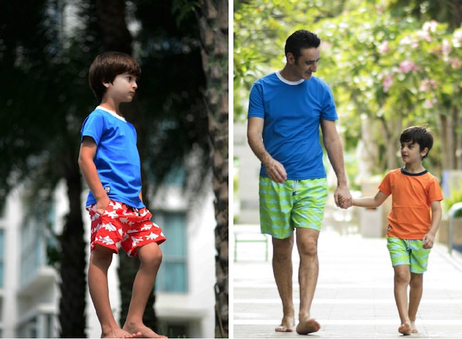 Tom & Teddy's rash tops fit like a comfy tee and are stylish enough to wear out of the pool.