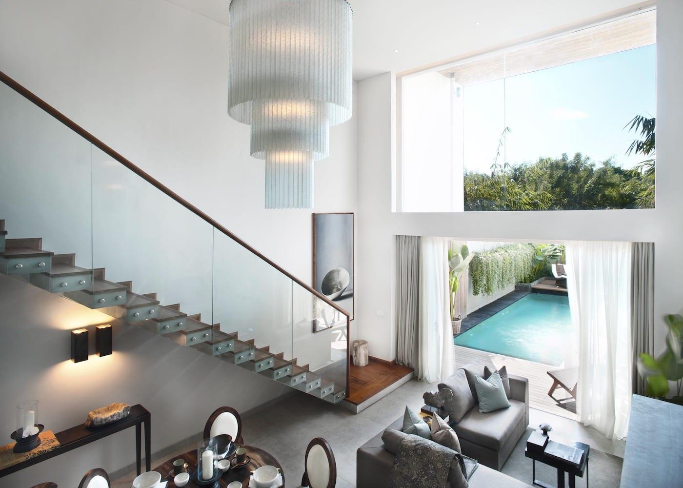 Inside Hu'u Villas - one of the best villa resorts in Seminyak, Bali, Indonesia