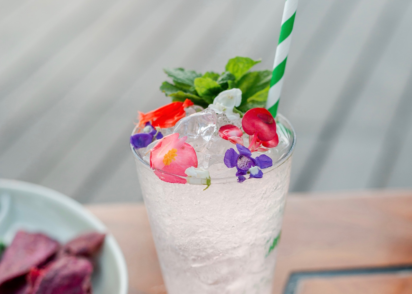 Flower Mojito at Woobar cocktail bar in Seminyak, Bali, Indonesia