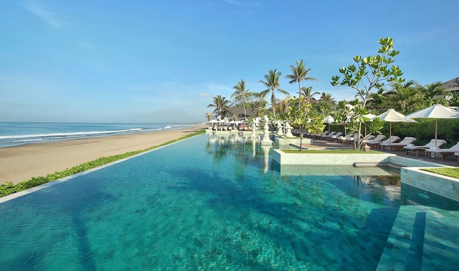 Beachfront infinity pool at The Seminyak Beach Resort & Spa in Bali - Indonesia