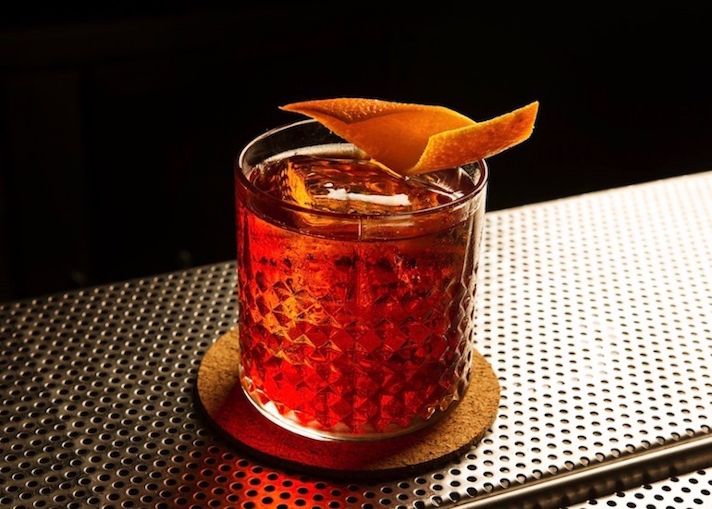 Wild Turkey Negroni at 40 Thieves cocktail bar in Seminyak, Bali, Indonesia