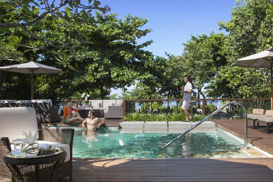 Best Nua Dua Hotels:  Check into the Tres Chic Sofitel Bali for a bit (or lot) of French-inspired fabulousness