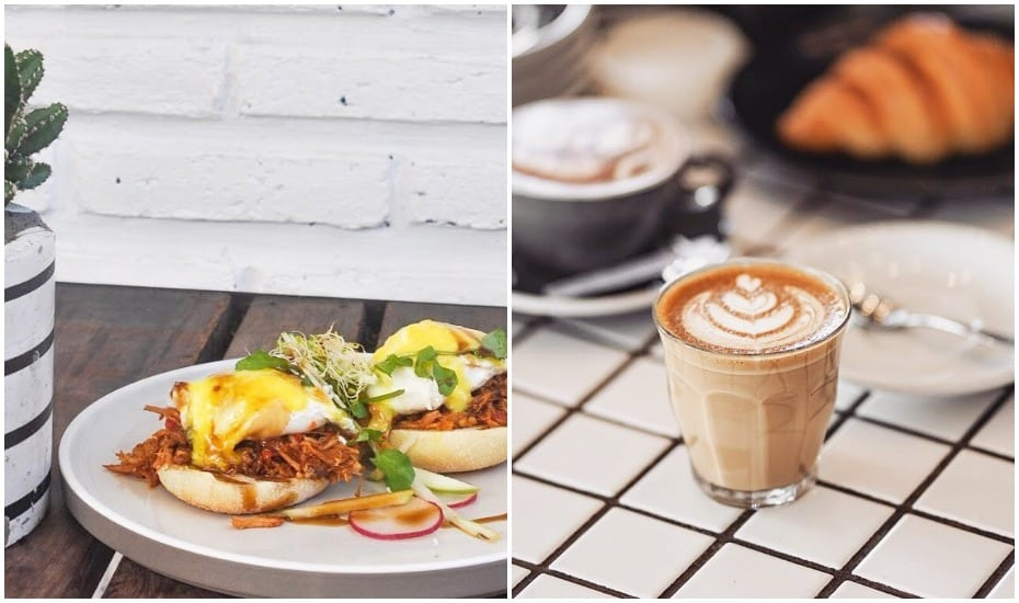 Eggs Benedict and Coffee at Ruko Cafe in Canggu, Bali