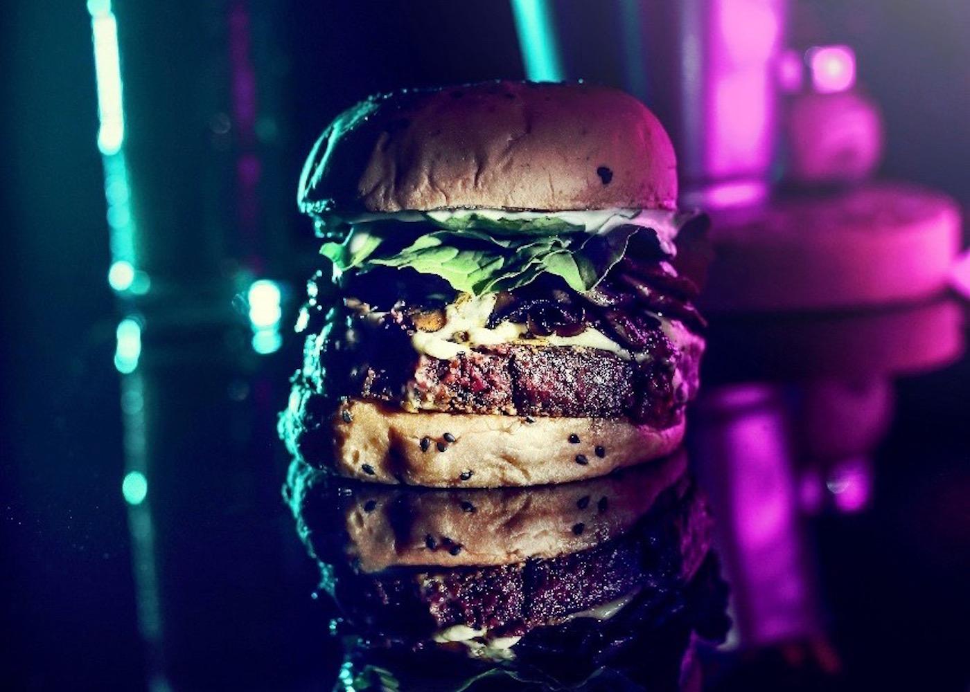 Beef Burger at BB52 Burger & Gin Bar in Canggu, Bali, Indonesia