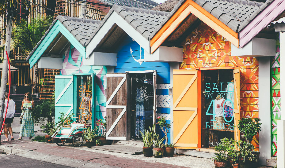 Indulge in some retail therapy at the awesome shops in Seminyak