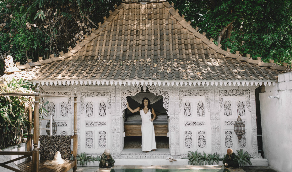 Electra at one of her Bali properties