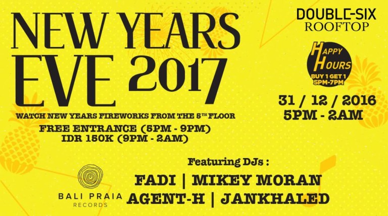 Double-Six Rooftop presents New Years Eve 2017