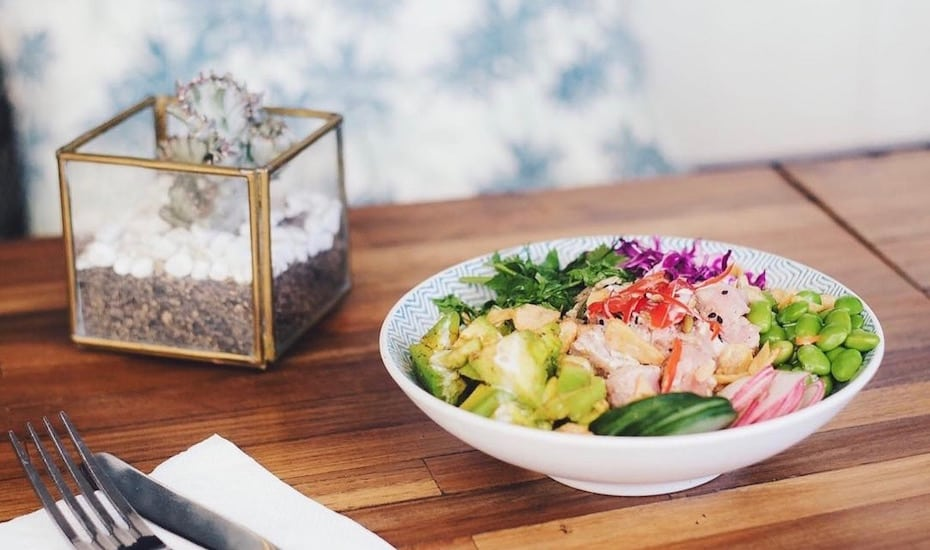 The famous Poke Bowl at Nude in Canggu, Bali