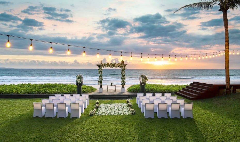 W Bali Seminyak beachfront chapel - one of the best wedding venues in Bali, Indonesia