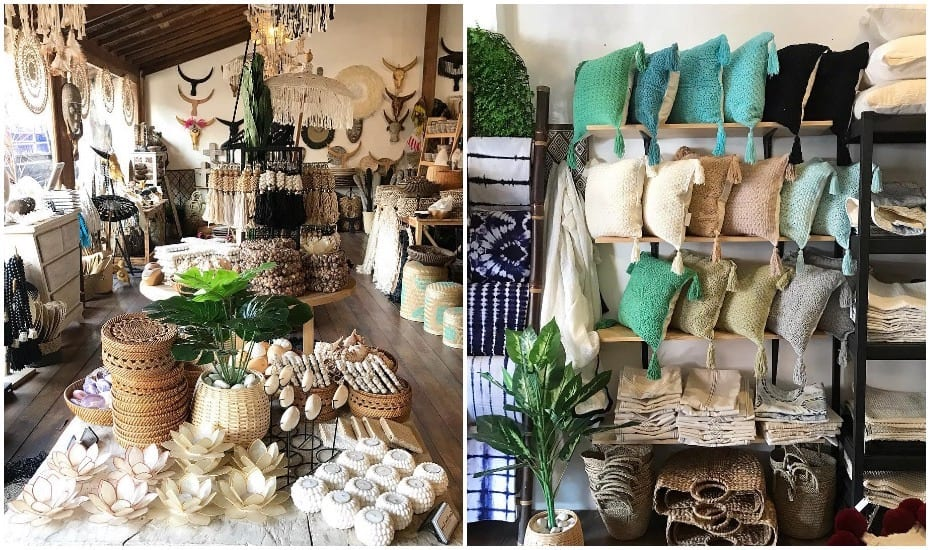 Homewares shopping in Bali - Kara Home Living Kerobokan