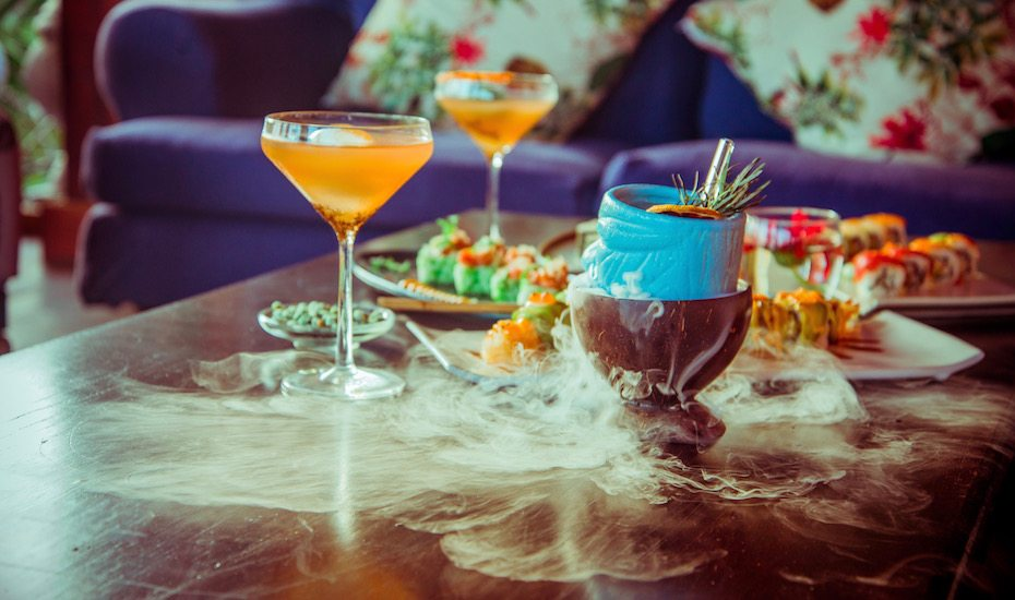 Japanese food & smoking cocktails at Ji Terrace By The Sea in Canggu, Bali