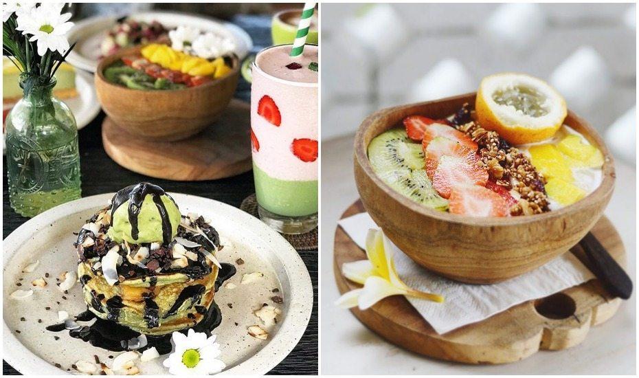 Healthy breakfast at Matcha Cafe in Canggu, Bali