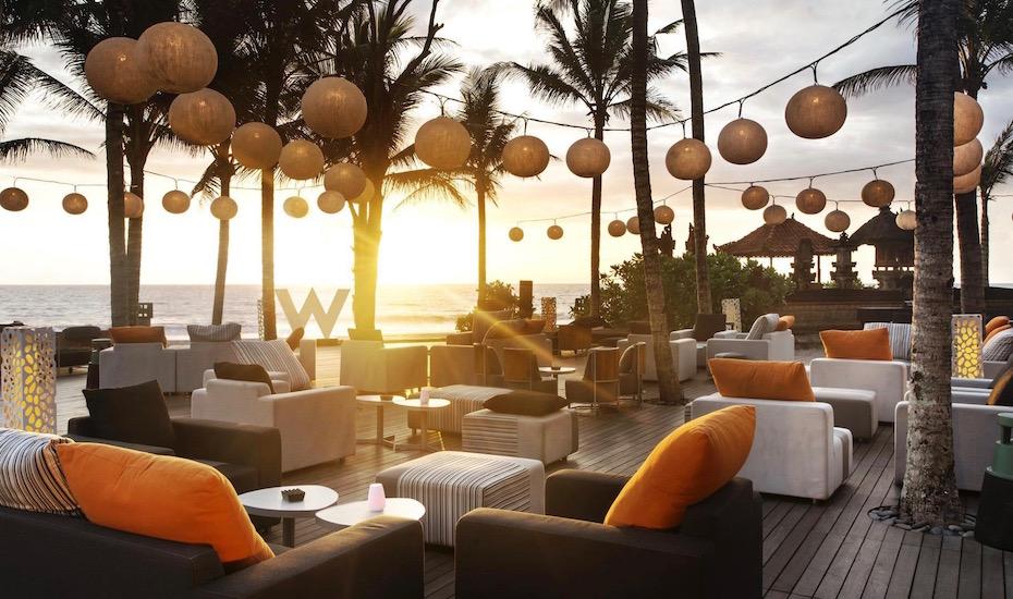 best sunset bar in Bali - w bali seminyak