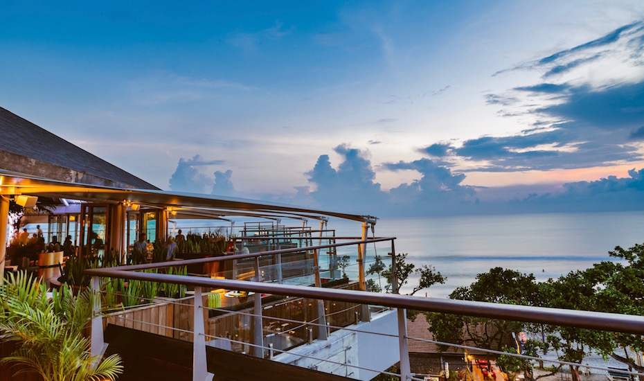 best sunset bar in Bali - rooftop at double six seminyak