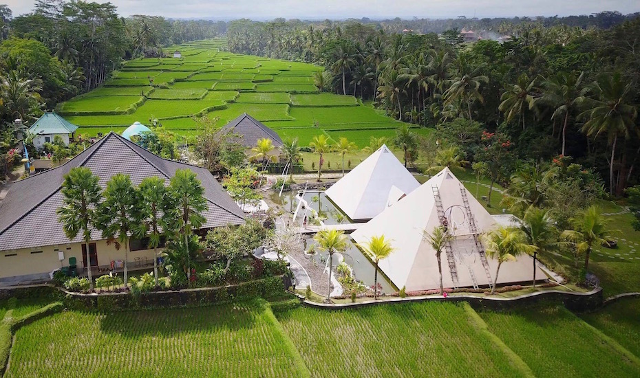 This wellness centre in Ubud offers Ancient Sound Healing inside two giant pyramids