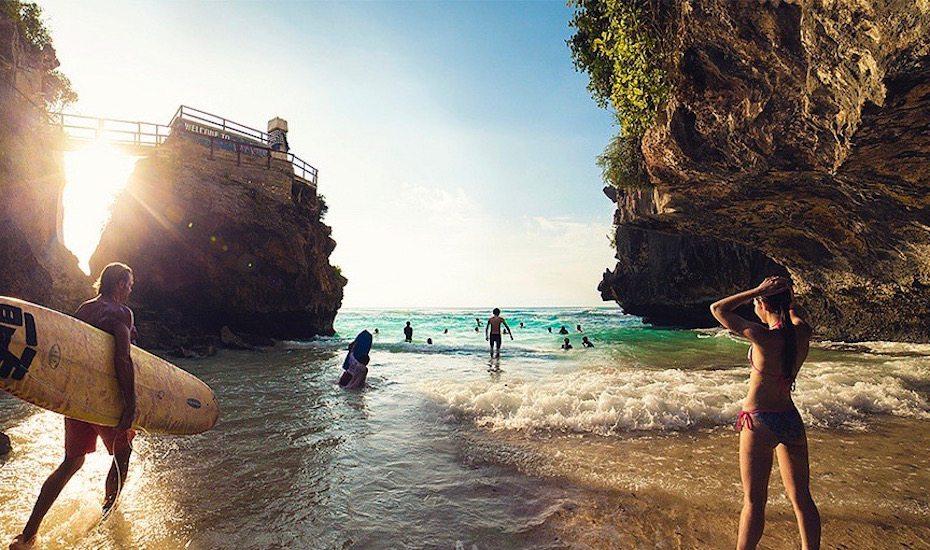 Best Beach in Bali - Suluban Uluwatu