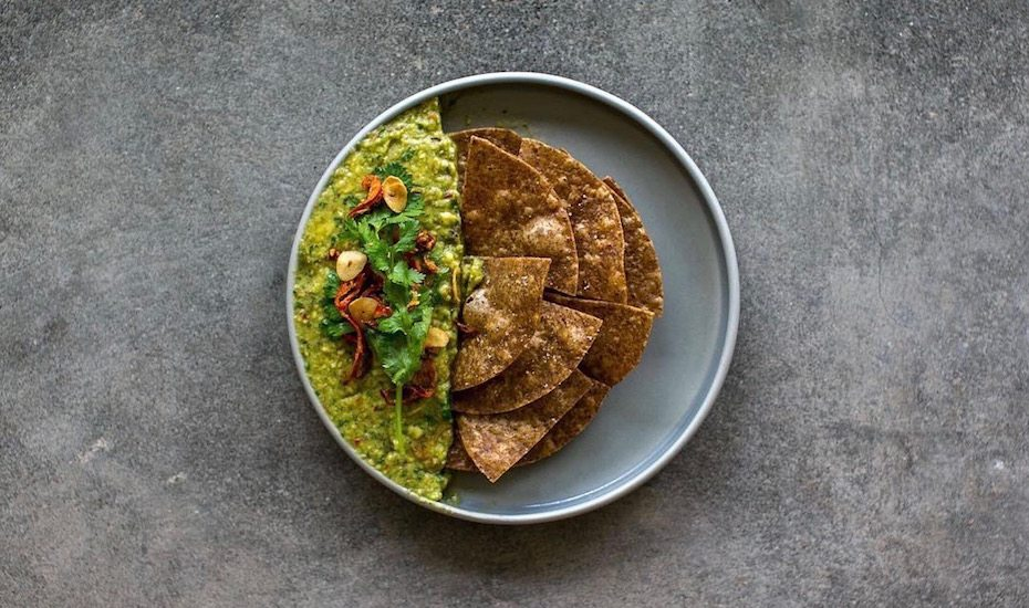 Guacamole and chips at Fishbone Local - Canggu's best restaurants
