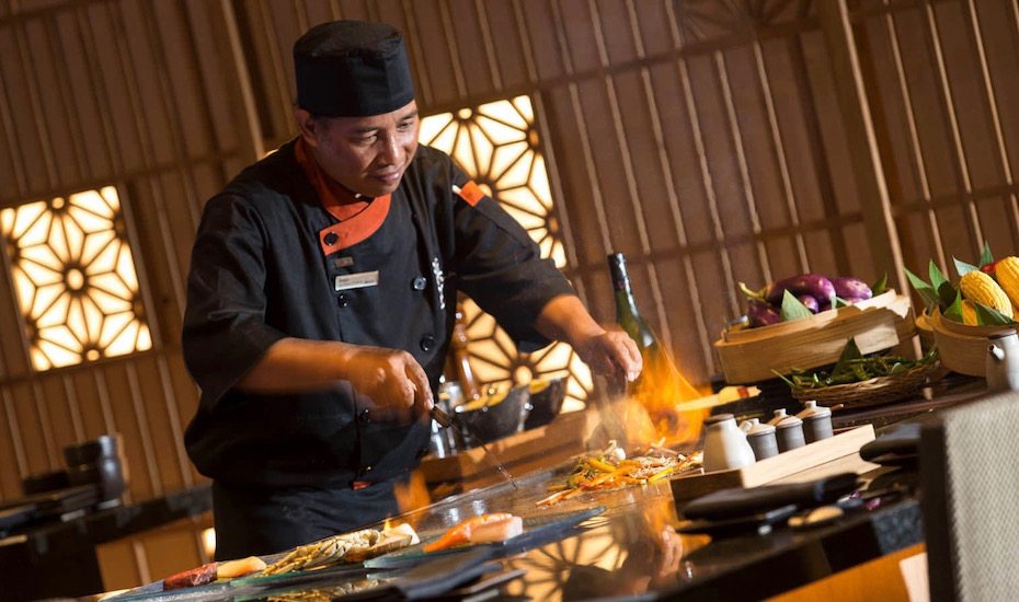 Teppanyaki Japanese Restaurant in Bali: hamabe at the westin nusa dua