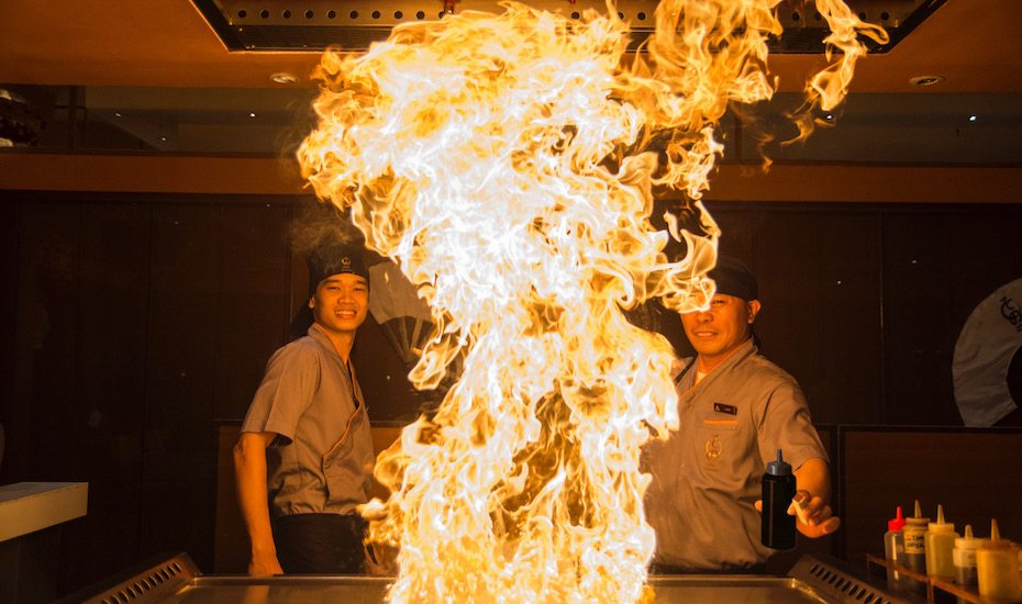 Playing with fire! Here are 8 of the best Teppanyaki restaurants in Bali