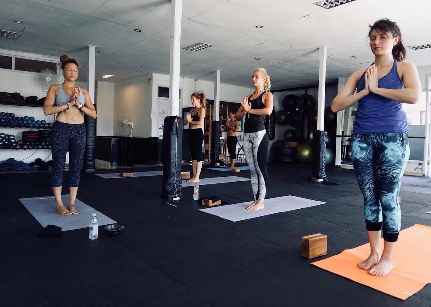Yogis at Motion Fitness yoga studio in Seminyak, Bali, Indonesia
