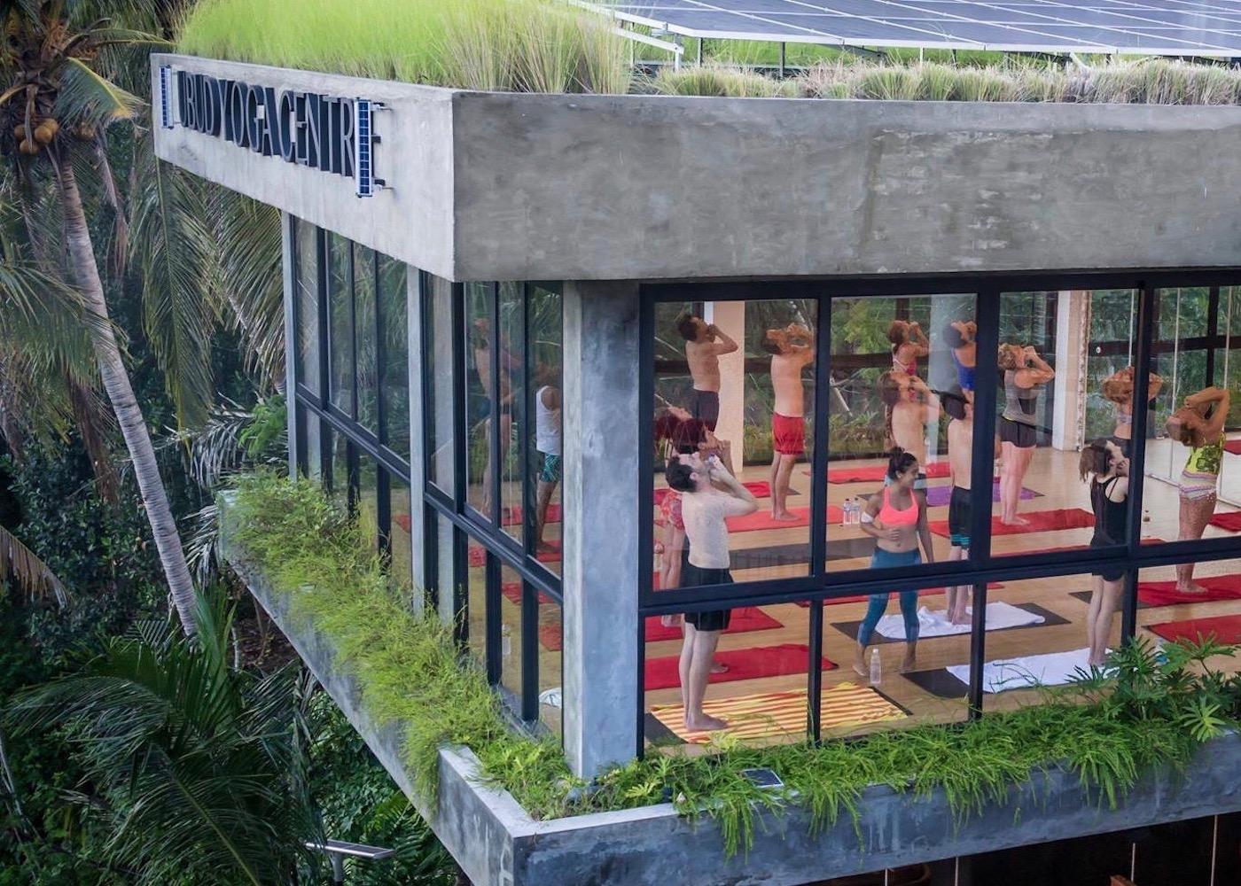 Yogis at Ubud Yoga Studio in Bali, Indonesia