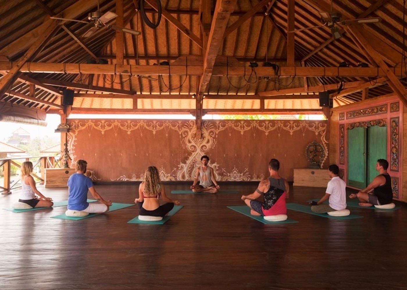 Yogis at Yoga Searcher studio in Uluwatu, Bali, Indonesia