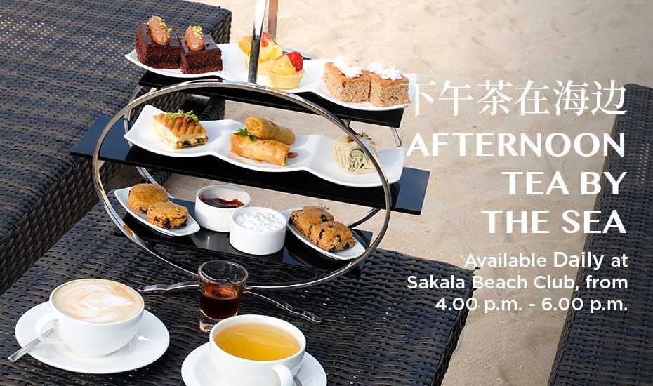 AFTERNOON TEA BY THE SEA at Sakala Beach Club