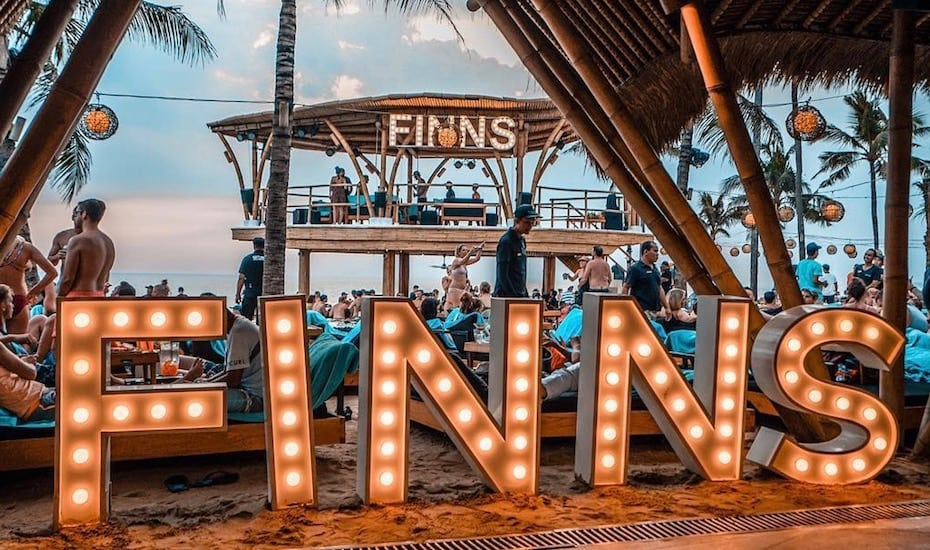 Bali's best beach clubs - Finn's Canggu
