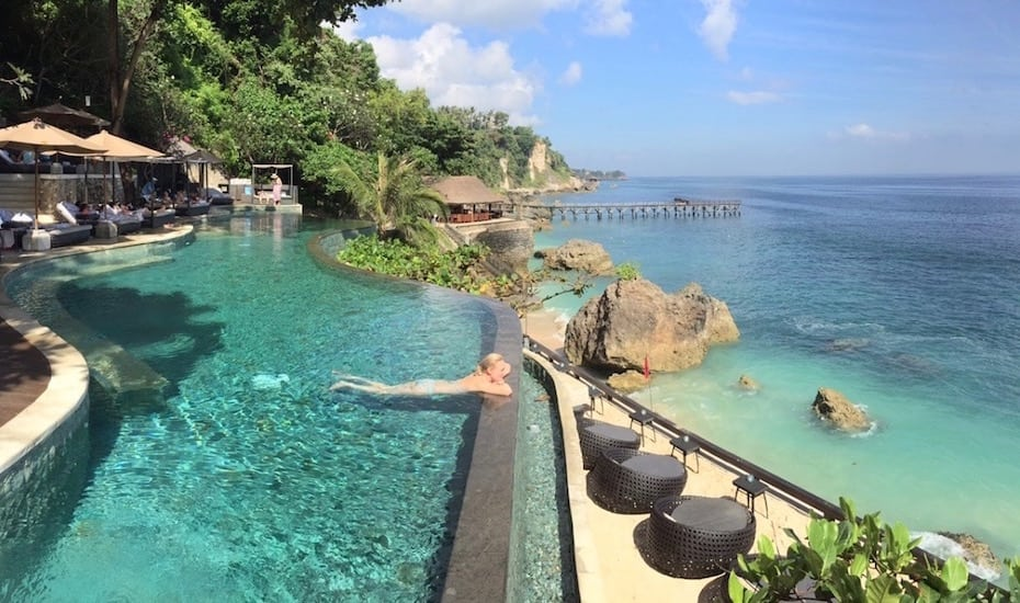 Beachfront infinity pool at AYANA Resort & Spa in Jimbaran, Bali - Indonesia