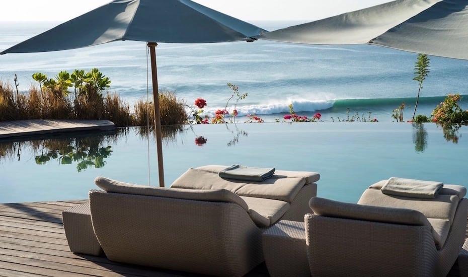 Clifftop infinity pool at Suarga Padang Padang in Uluwatu, Bali - Indonesia